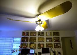 howto use skateboards as ceiling fan blades boing boing ceiling fans ugly
