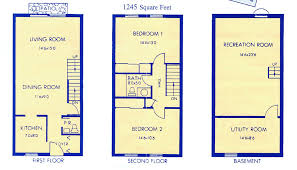 Floor Plans of Rental Townhome Units at Chartwell Townhouses    Chartwell Townhouses is designed for the most discriminating resident  See The Townhouse Floor Pans