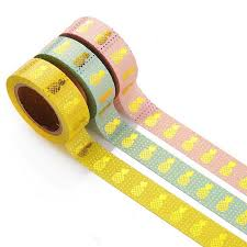 1PCS Colorful Gold <b>Pineapple Washi Tape</b> Stickers <b>DIY</b> | Shopee ...
