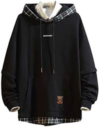 Band Hoodie <b>Men Fashion Stitching</b> Sleeves Rap Hip Hop Long ...