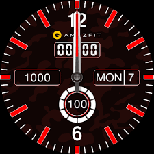 «GTR Analog Digital <b>Dark Red Camo</b>» by hall - Amazfit GTR (GTR ...
