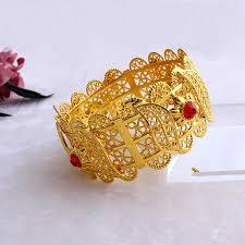 <b>70mm</b> Ethiopian Coin Wide Bangle Gold <b>Color</b> Dubai Copper ...