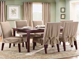 Fabric Dining Room Chair Covers Stylish Brown Fabric Dining Chair Cover With Half Skirt With Slip