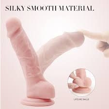 Realistic Ultra-Soft <b>Dildo for</b> Beginners with Flared <b>Suction Cup</b> ...