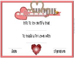 valentine s day certificates be my valentine printable