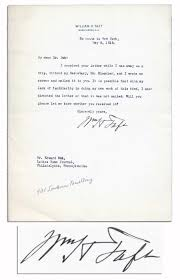 lot detail william taft typed letter signed taft forgets if william taft typed letter signed taft forgets if he mailed letter
