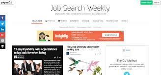 job search weekly the cv method