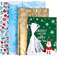 30PCS Bags Amosfun <b>Christmas Drawstring</b> Goody Bags ...