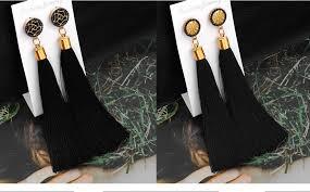 VCORM <b>Bohemian</b> Tassel Crystal <b>Long</b> Drop Earrings for Women ...