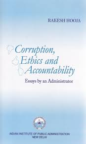 corruption ethics and accountability essays by an administrator facebook