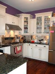 White Kitchen For Small Kitchens Kitchen Room Original Kitchen White Cabinets Purple Walls Modern