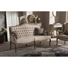 Button Couch Baxton Studio Oliver French Provincial Style Button Tufted