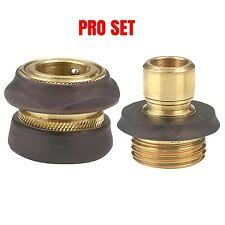 <b>Garden</b> & Patio <b>6 Piece</b> PC Brass <b>Garden</b> Hose Quick Coupler Set ...