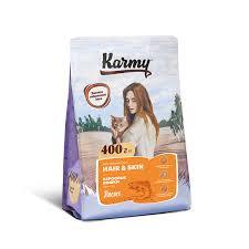 Купить <b>KARMY HAIR</b> & SKIN <b>корм</b> для взрослых кошек старше 1 ...