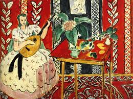 HENRI MATISSE: 'The Lute'; oil painting, 1943