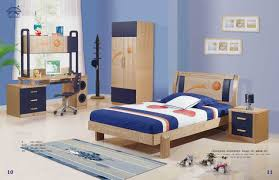 kids bedroom furniture sets for boys with wooden bed and nightstand complete with computre desk and wardrobe with blue and brown colors theme boys teenage bedroom furniture