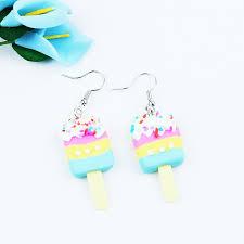 <b>Summer Style</b> Lovely Girls <b>Ice</b> Cream Earrings Polymer Clay Cute ...