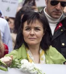 Ruth Ruiz, madre de los niños desaparecidos, en la manifestación. - madre-ruth-jose-cordoba
