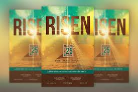 creative church templates inspiks market risen easter church flyer