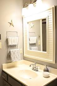 hand towel holder for bathroom hand towel holder idea like putting wood around the mirror new lights
