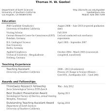 curriculum vitae > thomas goebel usc professional site > usc curriculum vitae