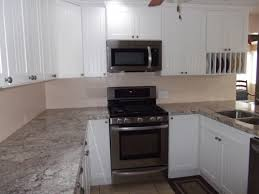 White Kitchen For Small Kitchens Custom Kitchen White Cabinetry With Granite Countertop Also Panel