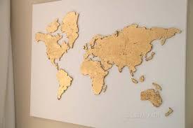 DIY <b>World map wall</b> art that is <b>easy</b> to make and unique - Smitha Katti