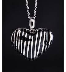 """Колье из серебра с каучуком """"Сердце"""" (артикул GXP00050) с ..."""