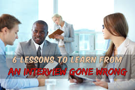 interview gone wrong what to do next lessons to learn