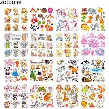 <b>ZOTOONE Applique</b> Happy Birthday <b>Cute</b> Animal Combination ...