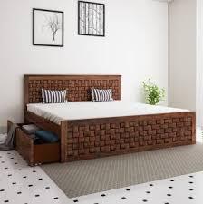 Home Edge <b>Sheesham</b> Wood <b>Solid Wood</b> King Drawer Bed Price in ...