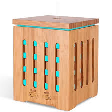 Natural Bamboo 7 Led Essential Oil Diffuser Aromatherapy ...