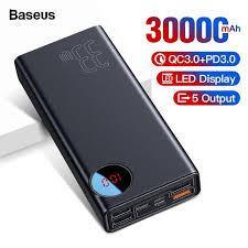 <b>Baseus 30000mAh Power Bank</b> USB Type C PD Fast Quick Charge ...