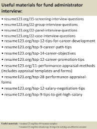 15 useful materials for fund administrator fund administrator resume