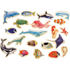 t s shure sea creatures wooden magnets magnafun set pieces t s shure sea creatures wooden magnets magnafun set 20 pieces com