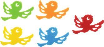 """<b>Набор</b> наклеек <b>Остров сокровищ</b> """"Птички"""", <b>фетр</b>, 5 шт"""
