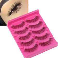 Buy <b>5 Pairs</b> Curly Artificial Eyelashes <b>Gracious Makeup</b> Handmade ...