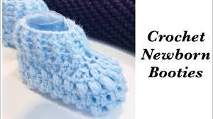 How to crochet <b>newborn baby</b> booties | shoes | <b>socks</b> - <b>boy</b> | <b>girl</b> ...
