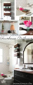 farmhouse french bathroom makeover reveal