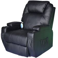 ?$HomCom Deluxe Heated Vibrating PU Leather <b>Massage Recliner</b> ...