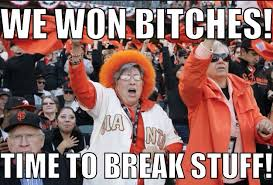 Meme of the Day: San Francisco Giants Fans Party Hard Last Night ... via Relatably.com