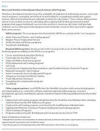 understanding local workforce systems urban institute box 3 how local workforce development boards partner programs