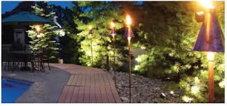 outdoor torch lighting. when you look at the fixture as seen here it looks like traditional tiki torch top has a kerosene or citronella burning wick to provide outdoor lighting d