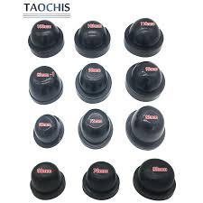 Taochis 2Pcs Car Light Headlight Dust Cover Rubber <b>Dustproof</b> For ...
