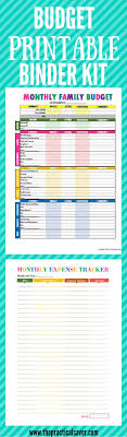 17 best ideas about monthly budget calculator budget printable binder kit