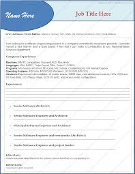 free resume formats   dotxesresume format for experienced software engineers