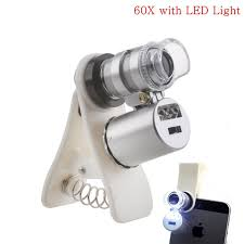 Universal Mini 60X Optical Glass 3 LEDs Clip <b>Wide</b> Angle ...