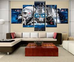 <b>5 Pieces Modular Picture</b> Canvas Painting 2jz Car Engine Modern ...