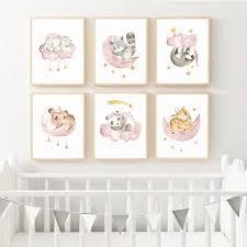 Woodland Nursery Decor Baby Girl Wall Art <b>Woodland Animals</b> Print ...
