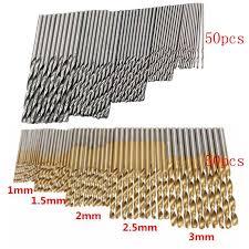 <b>50/100 Pcs</b>/<b>Set</b> Twist Drill <b>Bit Set</b> Saw Set HSS High Steel Titanium ...